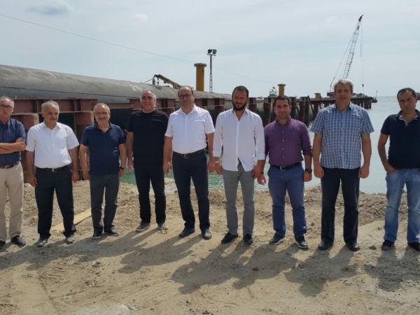 Çorlu Deri OSB Yönetim Kurulu Derin Deniz Deşarj Deniz Şantiyesinde