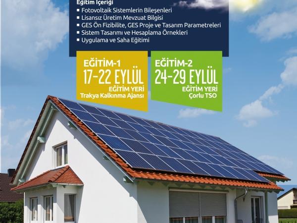 Trakya Kalkınma Ajansı Fotovoltaik Sistem Kurulumu Eğitimi