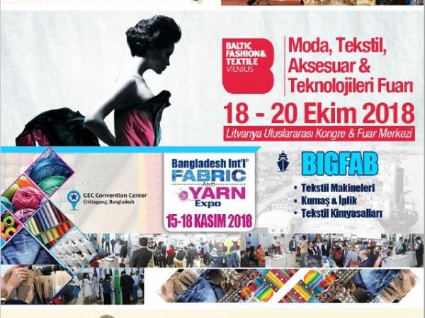 Bangladeş - Dakka  15 - 18 Kasım 2018   3.Uluslararası Tekstil & Endüstrisi Fuarı